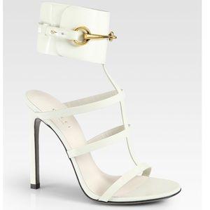 Gucci White Ursula Cage Sandals Size 36